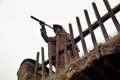 statue  hermit  telescope