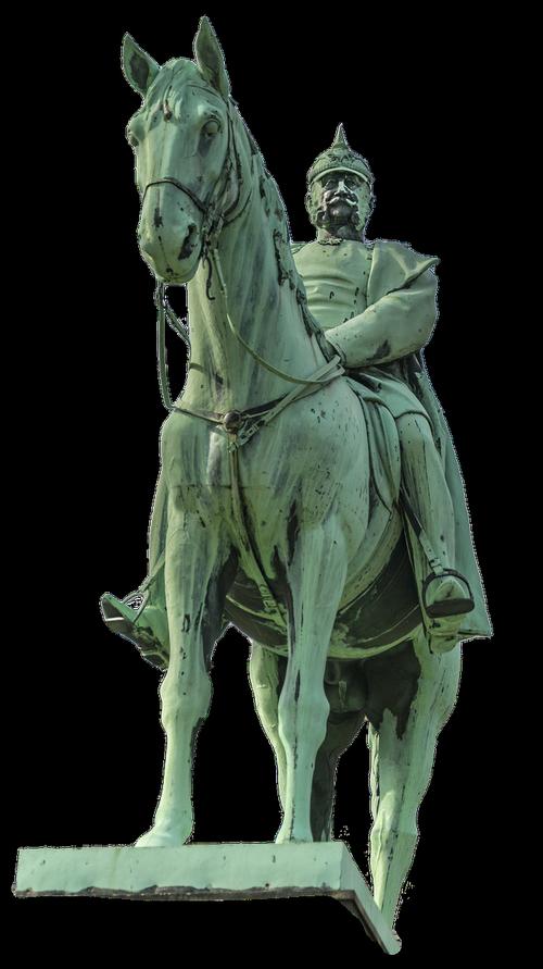 statue  reiter  horse