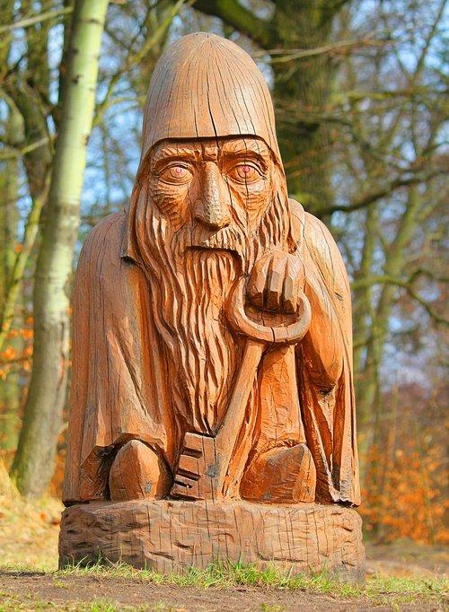 statue  woodcut  wood