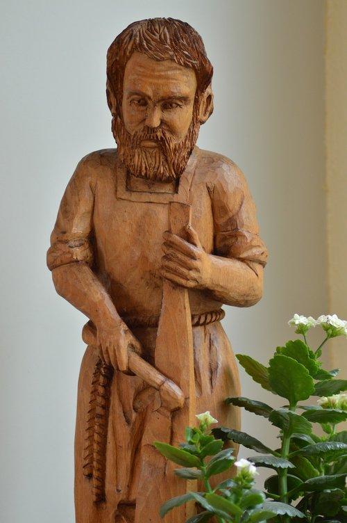 statue  wood  carpenter
