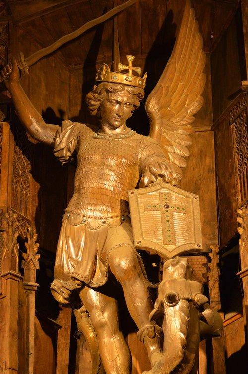 statue  angel  demon
