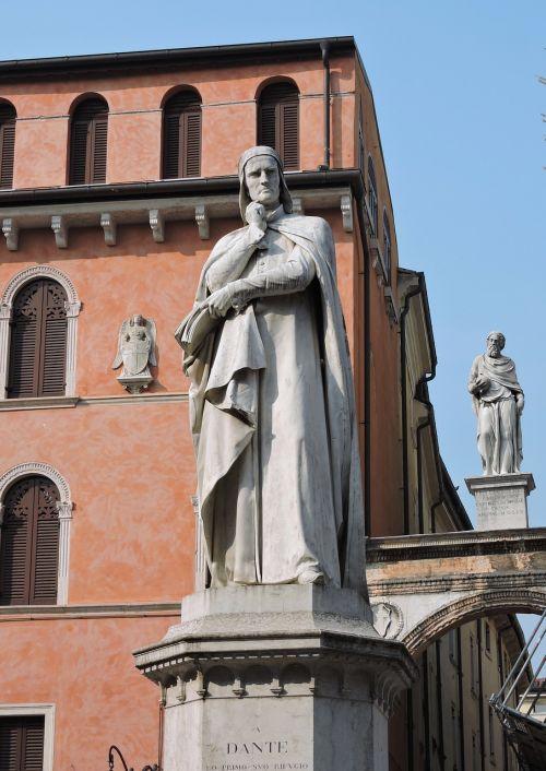 statue dante poet