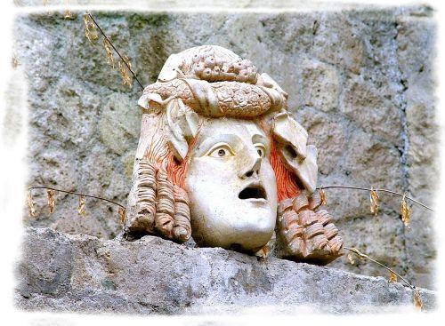 statue herculaneum volcano