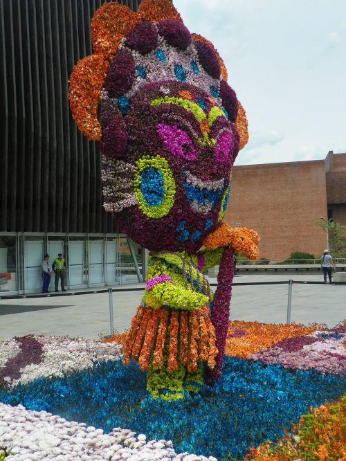 statue floristics flowers