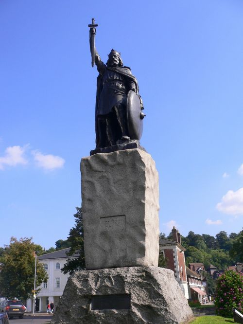 statue king alfred bronze