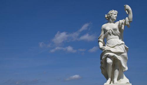 statue blue sky antique