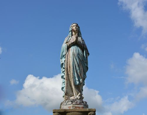 statue holy virgin mary religious figure