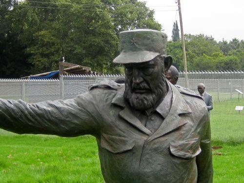 Statue Of Fidel Castro At Struggle