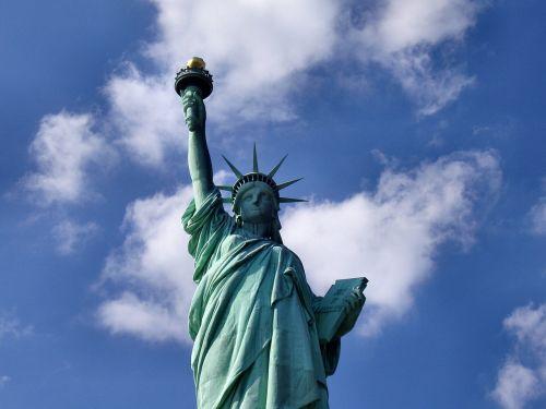 statue of liberty landmark close