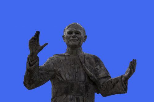statue of pope john paul ii lyon statue