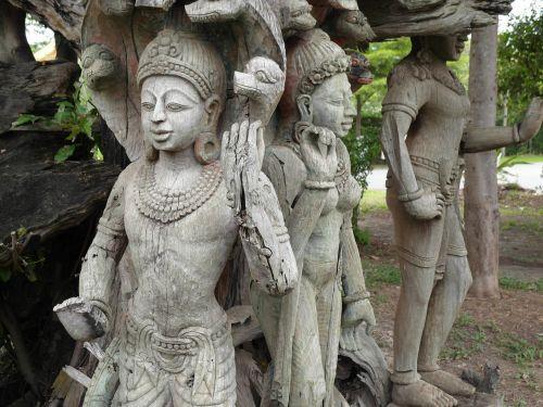 statues thailand asia