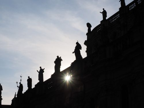 statues hofkirche dresden