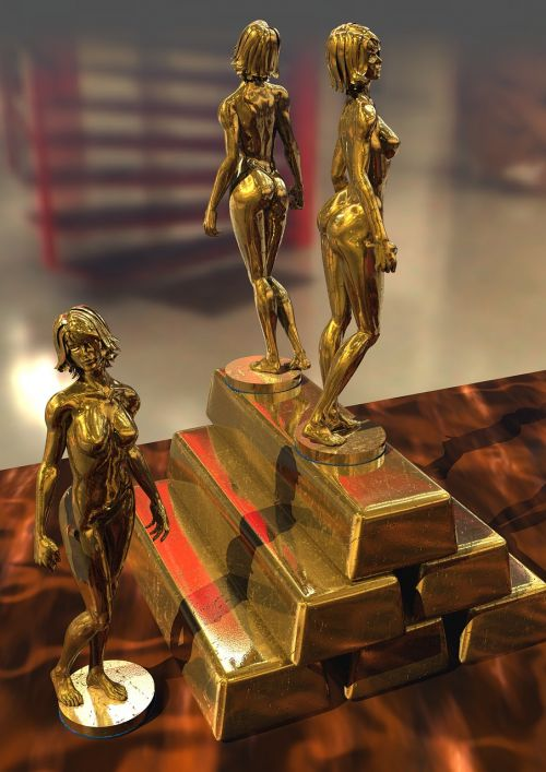 statuettes gold ingots
