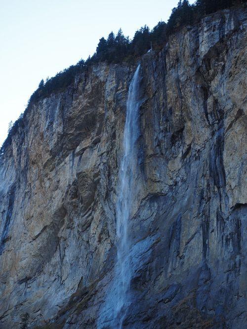 staubbachfall waterfall free-fall