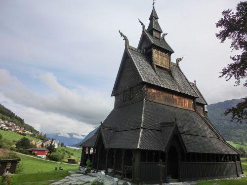 stave church norway viking