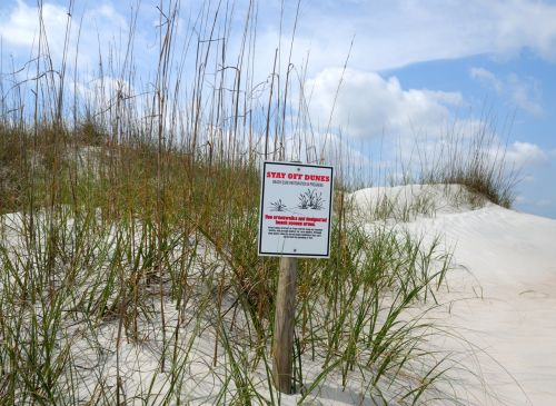 Stay Off Sand Dunes Sign