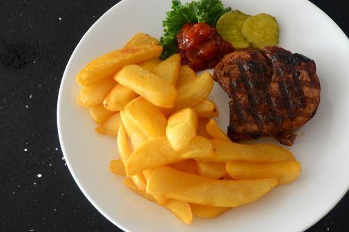 steak fries ketchup