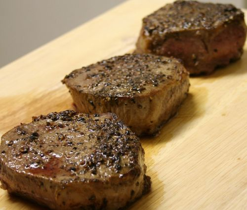 steaks cooked meat