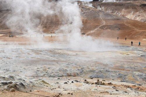 steam  hot spring  geothermal