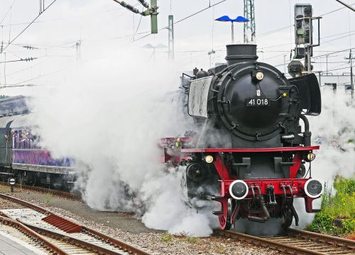 steam locomotive departure steam cloud