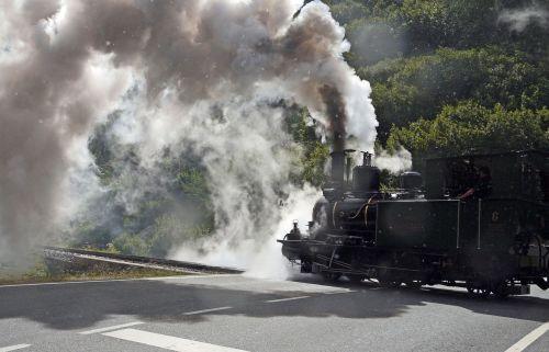 steam locomotive level crossing road crossing