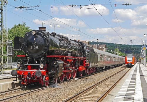 steam locomotive steam train silberlinge