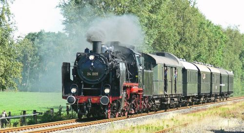 steam locomotive steam train passenger train