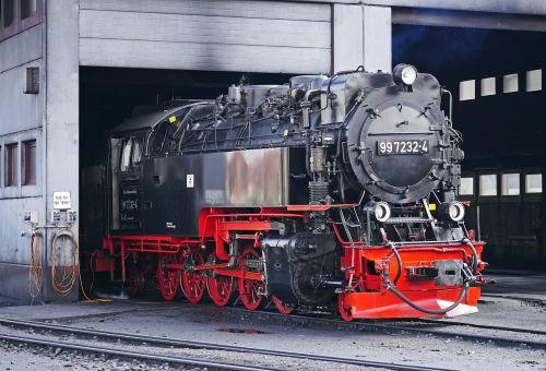 steam locomotive locomotive shed wernigerode