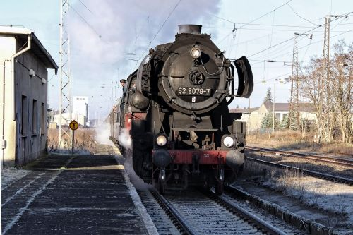steam locomotive railway locomotive