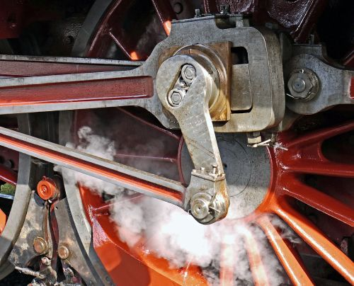 steam locomotive blowing axis pivot