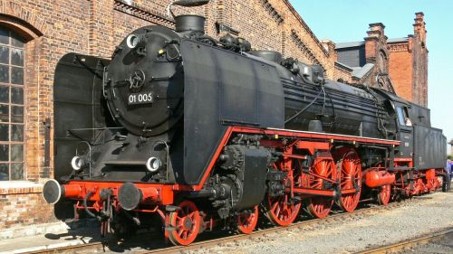 steam locomotive classic view express train
