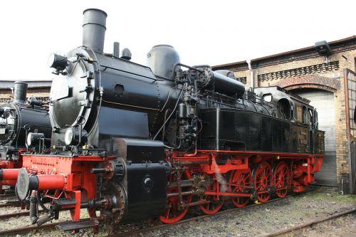 steam locomotive locomotive shed railway