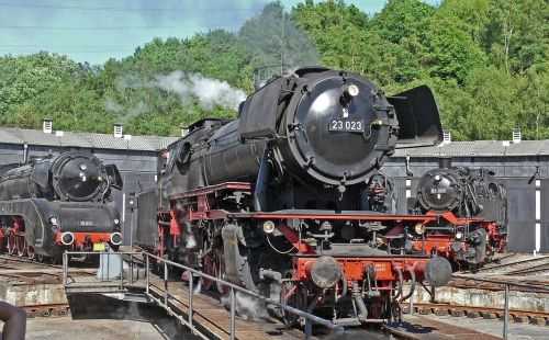 steam locomotive hub locomotive shed