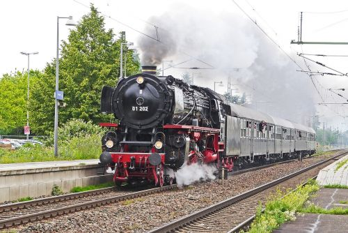 steam locomotive express train transit
