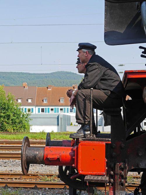 steam locomotive train driver stoker