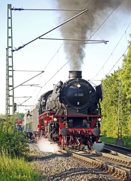 steam locomotive steam special train departure