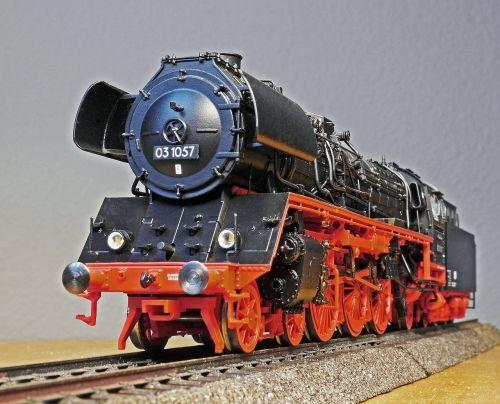 steam locomotive model front view