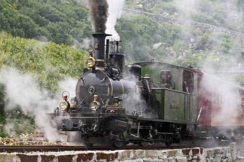 steam locomotive departure slope