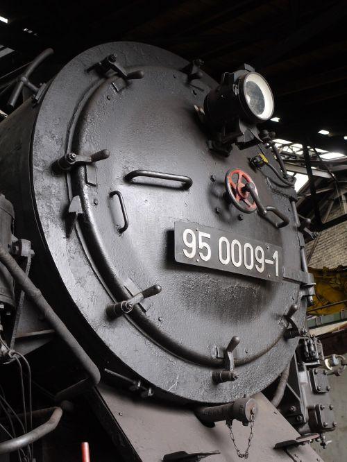 steam locomotive smoke chamber door locomotive shed