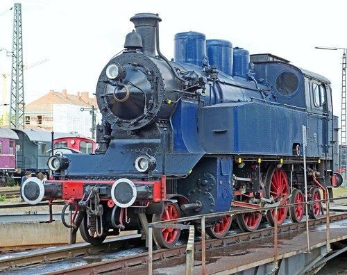 steam locomotive  a museum exhibit  the bavarian railway museum