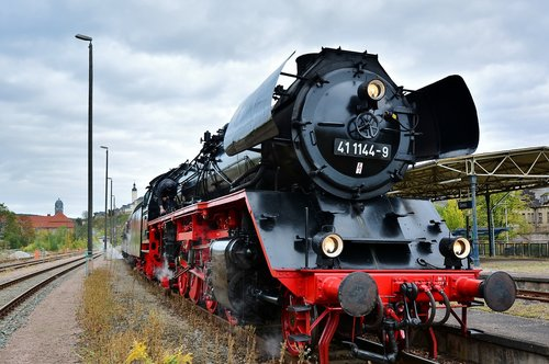 steam locomotive  elstertal express  nostalgia