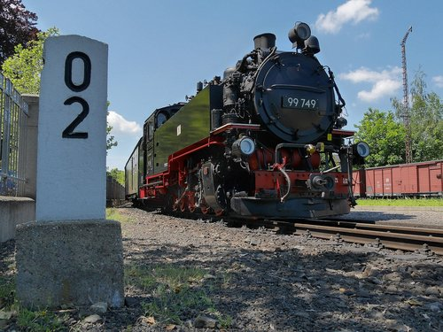 steam locomotive  zittau  mileage