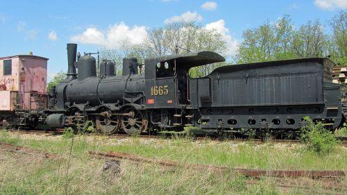 steam locomotive 1665 railway