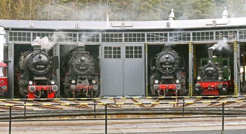 steam locomotives locomotive shed track star