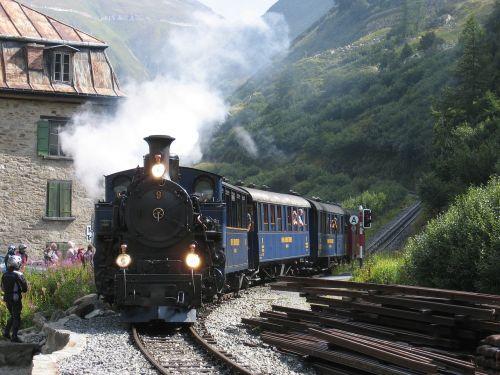 steam railway furka switzerland