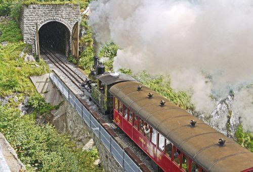 steam railway furka - bergstrecke tunnel gateway
