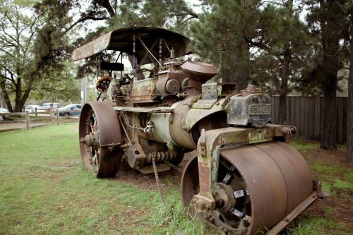 steam roller old machine