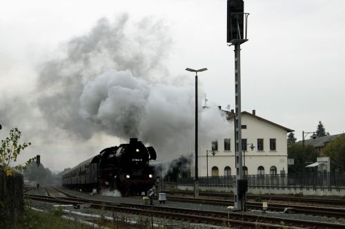 steam train special crossing oelsnitz