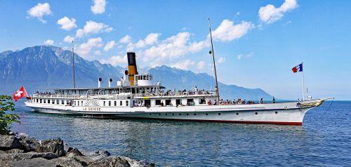 steamboat lac léman lake geneva