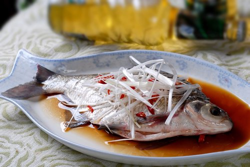 steamed fish  chinese food  perch